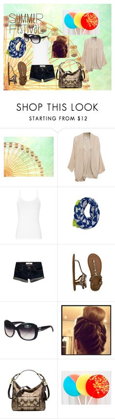 """""""Summer Festival"""" by deeda-ferreira ❤ liked on Polyvore featuring Pull&Bear, Reiss, Hollister Co., Abercrombie & Fitch, Chanel, Coach and Cotton Candy"""