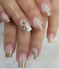 french nails classy Tips Elegant Nails, Classy Nails, Stylish Nails, Cute Acrylic Nails, Cute Nails, Pink Nails, My Nails, Nail Deco, Nail Art Designs