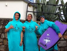 Team riders with new towel ponchos #TeamTSP #surf #bodyboard
