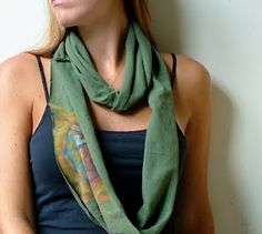 Cute scarf... wonder if I have a cute enough t-shirt to do this with!
