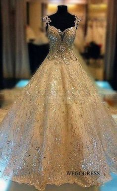 dresses formal gowns Picture - More Detailed Picture about Luxury Princess Bridal Gowns Thousands of Shiny Swarovski Crystals A Line Royal Train Gorgeous Amazing Wedding Dresses 2013 Picture in Wedding Dresses from Sally nona dresses Dream Wedding Dresses, Bridal Dresses, Wedding Gowns, Prom Dresses, Gold Wedding, Dresses 2013, Beautiful Gowns, Gorgeous Dress, Wedding Attire
