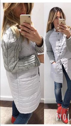 Knit Fashion, Fashion Outfits, Womens Fashion, Look Con Short, Coats For Women, Clothes For Women, Sewing Coat, Cool Jackets, Diy Clothing