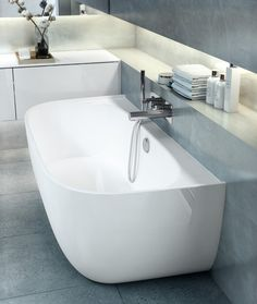 6 simple bathroom collections for the design conscious - cate st hill Elon by Conran + Partners for Victoria + Albert Baths - 5 simple bathroom collections for the design conscious Bathroom Colors, Bathroom Sets, Small Bathroom, Bathrooms, Bad Inspiration, Bathroom Inspiration, Interior Inspiration, Interior Modern, Bathroom Interior Design