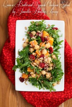 Quinoa, Butternut Squash, Chickpea, Apple, Roasted Beet Salad Recipe