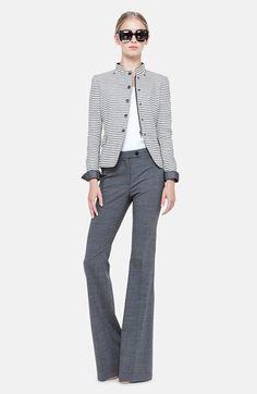 Akris punto Stripe Jacket & Bootcut Denim Trousers  #Nordstrom