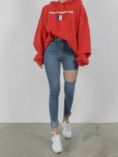To School Outfit baddie hoodie and jeans, cute fall outfit. back to school outfit hoodie and jeans, cute fall outfit. back to school outfit Teen Fashion Outfits, Mode Outfits, Fashion Clothes, Fashion Dresses, Mode Ootd, Diy Kleidung, Korean Fashion Trends, Fashion Ideas, 50 Fashion
