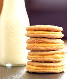 Pumpkin Latte Sandwich Cookies on MyRecipeMagic.com