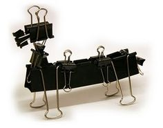 Binder clip T-Rex. Fierce! I am so making this and putting ...Binder Clip Dinosaur