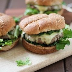 Lamb Burgers with Kale