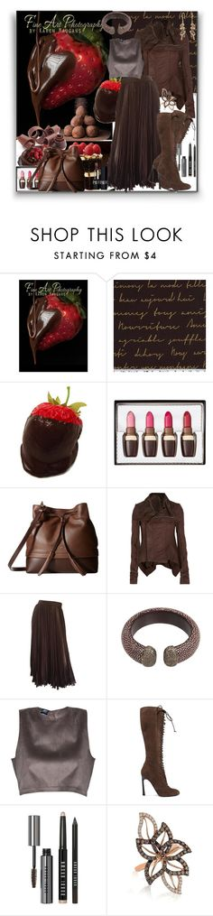"""""""Chocolate"""" by marionmeyer ❤ liked on Polyvore featuring Lodis, Rick Owens, Valentino, LE VIAN, Giambattista Valli, Bobbi Brown Cosmetics, Christian Dior and chocolate"""