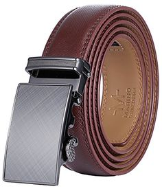 b4ec62f924ce Marino Men s Genuine Leather Ratchet Dress Belt With Automatic Buckle