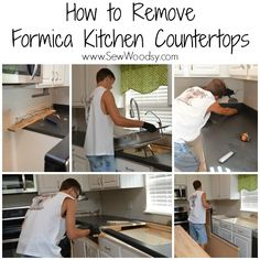How To Remove Old Laminate Countertops U0026 Backsplash Without Damaging The  Cabinets | Laminate Countertops, Countertops And Kitchens