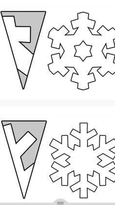 34 ideas for diy art paper snowflake template Christmas Crafts For Kids, Christmas Activities, Christmas Art, Holiday Crafts, Christmas Decorations, Christmas Snowflakes, Christmas Ornaments, Diy Snowflakes, Snowflake Craft