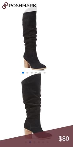 Price Drop ❤️️Nine West black boots 6.5 Excellent condition suede Nine West Shoes Over the Knee Boots