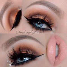 Orange Smokey Crease. Feeling peachy anyone? makeupbytaren