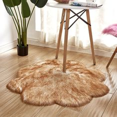 Exquisite home Faux Fur Kids Rugs for Playroom Chair Cover Seat Pad Plain Shaggy Area Rugs for Bedroom Sofa Floor Light Blue 2ftX3ft Sofa mat