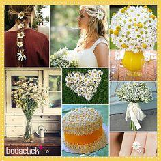 Llena tu boda con margaritas de todos los tamaños, súper romántico y fresco ✿✿✿✿✿