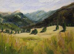 """Mountain Meadow 2"" - Original Fine Art for Sale - © Jane Frederick"