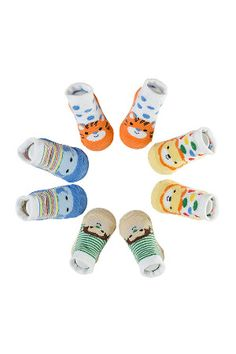 Cutie Pie Newborn 4-Pack Jimmy Character Socks in Assorted Colors
