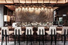 Interior designer Joyce Wang discusses the custom-made fittings and furniture she designed for Ammo bar and restaurant in Hong Kong. Bar Interior Design, Best Interior, Luxury Interior, Interior Ideas, Commercial Design, Commercial Interiors, Design Bar Restaurant, Restaurant Lighting, Modern Restaurant