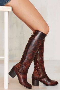 Freebird by Steven Lace-Up Leather Boot - Brown