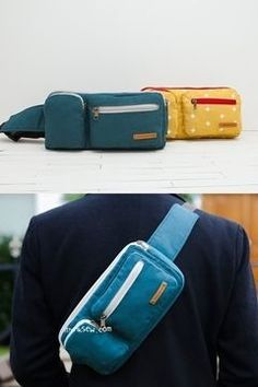 Sling Bag with Various Pockets - Sewing Pattern via Makerist.com  #sewingwithmakerist #sew #sewing #sewkindofwonderful #sewingpattern #sewinginspiration #diy #handmade #homemade #sewingprojects #sewingtutorial  #bag #backpack #zipper #men #women #accessoire
