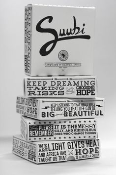 suubi 5 - love the way motivational messages are incorporated into packaging.