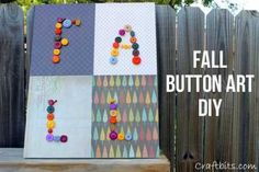 Button Wall Art For Fall