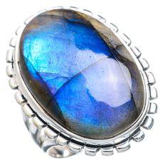 Large Labradorite 925 Sterling Silver Ring Size 9.5 RING721241