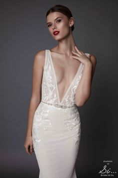 Muse by BERTA bridal | too much skin for wedding dress but pretty