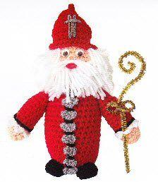 Sint Nicolaas, gevonden op : http://prettythingsandmore.files.wordpress.com/2012/10/haakpatroon-sinterklaas.pdf
