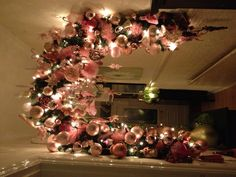 My pink Christmas decorations