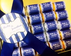 Royal Blue candy bar for wedding party Gold Candy Bar, Blue Candy Bars, Blue Candy Buffet, Candy Bar Wedding, Royal Blue And Gold, Colorful Candy, Dessert Bars, Event Planning, Wrapping