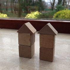 Bouwen met kubus en halve kubus. 6.