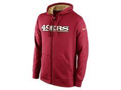 Nike KO Warp Full-Zip (NFL 49ers) Men's Training Hoodie