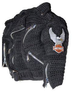 Motorcycle Jacket Crochet Pattern inspired by por pattydavisdesigns