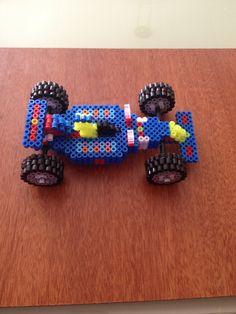 coche de F1 echo con hama beads
