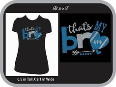 That's My Bro Glitter Football T-Shirt, Football Sister T-Shirt