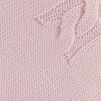 copertina lettino in lana con mezze trecce