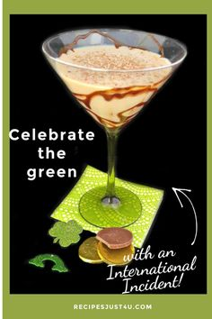 This delicious St. Patrick's Day drink features a blend of four spirits in a chocolate drizzled martini glass. #internationalincident #chocolatedrizzle #baileysmartini #frangelicococktail Craft Cocktails, Party Drinks, Frangelico Cocktail Recipe, Best Cocktail Recipes, Baileys Irish Cream, Chocolate Drizzle, Holiday Drinks, Food Themes, Non Alcoholic Drinks
