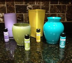 I knew I was keeping all those old vases for a reason!...   AE Weekly: Repurpose old glass vases and brighten up a rooom!