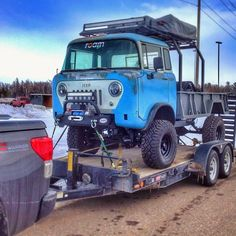 Roam Automotive restored this 1960 Willys Jeep Forward Control, updated with a Grand Cherokee engine & drivetrain, new suspension and mods. Jeep Pickup, Jeep Truck, Pickup Trucks, Cool Jeeps, Cool Trucks, Cool Cars, Vintage Trucks, Vintage Jeep, Expedition Vehicle