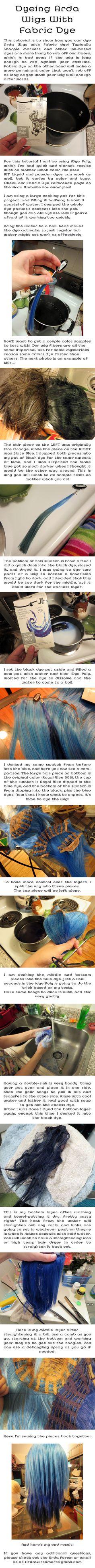 Wig Dye Tutorial by Malindachan.deviantart.com on @deviantART