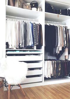 Inspiração Closets, Ideias Closet, Closet Armário, Closet Armário Inspiração, Organização Closet, Closet Organização, Closet Lindo