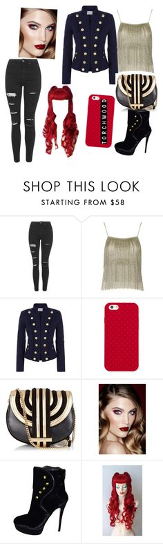 """""""janto daughter"""" by ellie-molyneux ❤ liked on Polyvore featuring Topshop, Pierre Balmain, Tory Burch, Salvatore Ferragamo, Charlotte Tilbury and House of Harlow 1960"""