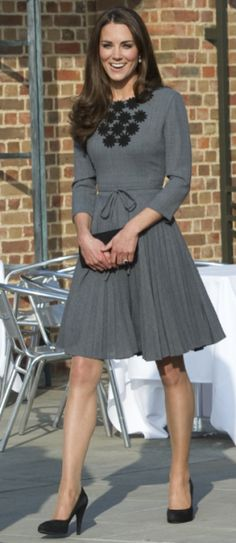 Princess Katherine in Orla Kiely dress. Kate Middleton. Lovely!