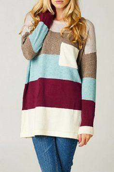 Keep Me Warm Striped Sweater