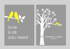 Personalized Custom Love Bird Wedding Family Tree by karimachal