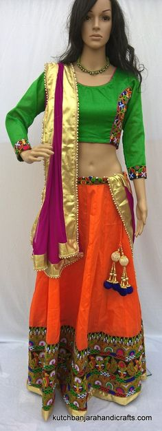 Kutch work Chaniya Choli, banjara choli, Designer Lehenga Choli, saree blouse, kutch work blouse, Navratari chaniya choli