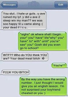 funny wrong number text grammar cheat